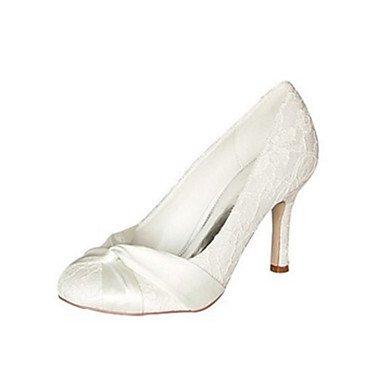 Rtry Femmes Chaussures De Mariage Pompe Base Satin Stretch Printemps Automne Fête De Mariage & Amp; Soirée Bowknot Stiletto Talon Ivoire 3a-3 3 / 4in Ivoire Noi10.5 / Eu42 / Uk8.5 / Cn43 Us4-4.5 / Eu34 / Uk2-2.5 / Cn33