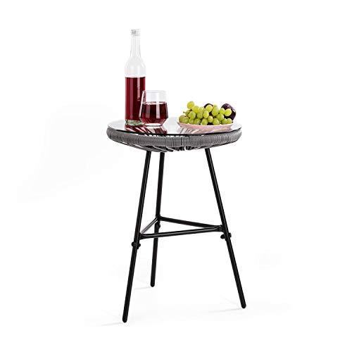 blumfeldt Las Brisas T Gartentisch - Retro-Design, Bespannung aus 4mm-Geflecht, Material G