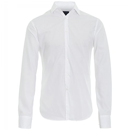 Michaelax-Fashion-Trade -  Camicia classiche  - Basic - Classico  - Maniche lunghe  - Uomo bianco (01)
