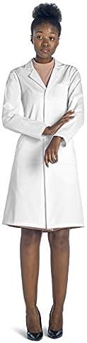 Dr. James 100% Coton Femme Blouse Blanche De Laboratoire Taille 38 (Taille fabricant 10)