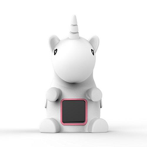 Unicornio LED luz nocturna reloj digital medición