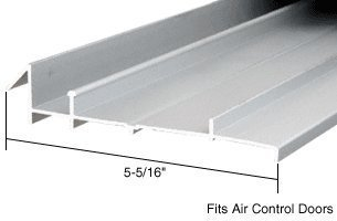 CRL Aluminum OEM Replacement Threshold for Air Control Doors; 5-5/16 x 6 ft Long by C.R. Laurence -