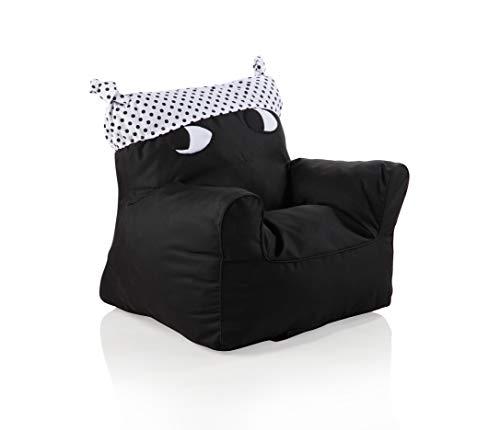 Sweety Toys 11520 Sessel Kindersessel schwarz mit weissem Hut- indoor/outdoor-waterproof