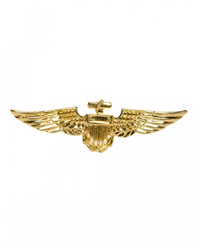 Goldglänzendes Piloten Abzeichen (Sexy Pin Pilot)
