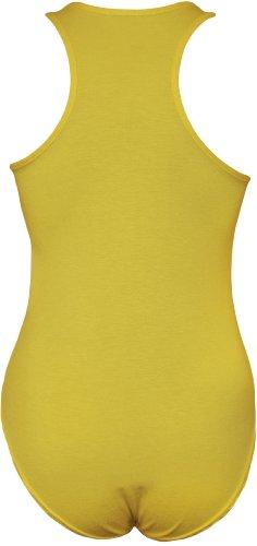 WearAll - Dos nageur body débardeur top sans manches - Combinaisons - Femmes - Tailles 36 à 42 Jaune
