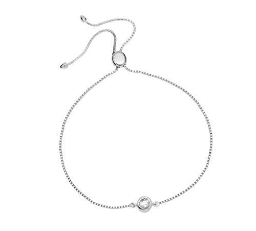 Lola Rose Curio Stud Slider Bracelet Womens Jewellery One Size Natural White Zircon