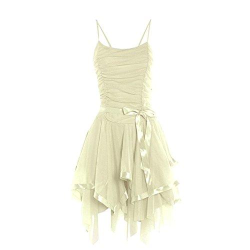 Funky Fashion Shop Damen Kleid Cremefarben