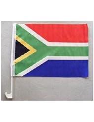 Autofahne Südafrika ca. 30 x 45 cm mit Stab zur Befestigung an der Autoscheibe von profimaterial