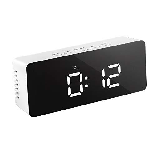 LEDMOMO LED Despertador Digital espejo Termómetro