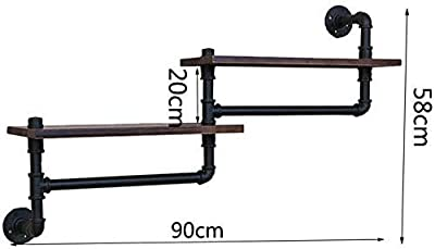 Iron Art Living Room Blumentopfhalter Storage Rack schwarz Massivholz Wandmontage Handtuchregal Badregal zhaoyun