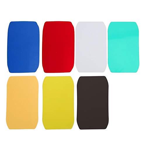 Preisvergleich Produktbild VBESTLIFE Tragbarer Mini-Lichtverteiler aus weichem Gummi-Gummischutz,  7Pcs reines Multicolor,  Gummi-Blitzlicht-weichem Ball-Softcover für Kamerataschenlampe