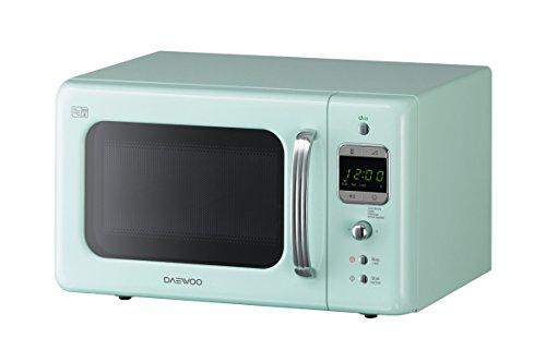 Daewoo KOR7LBKM Retro Style Microwave Oven, 20 L, 800 W – Mint