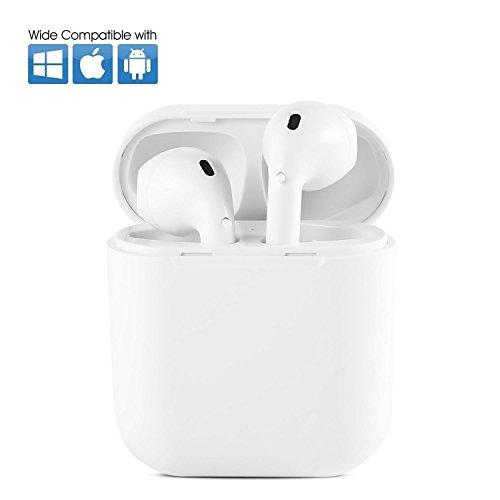 teepao Wireless Bluetooth In-Ear V4.2Geräuschunterdrückung Bluetooth Kopfhörer Headsets in-Ear TWS Hörer Stereo & HD Mikrofon mit Ladekabel Fall (Ladegerät) für iPhone X/8/7/7Plus, Android Smartphones