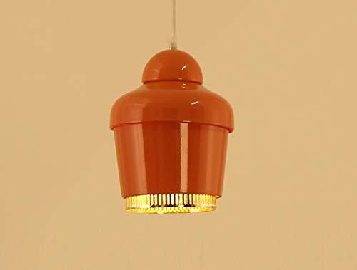 CWJ Kreative dekorative Kronleuchter - Kronleuchter, Postmodern Einfache Beschichtung Einzelne Bar Bar Restaurant Gold Bell Kronleuchter E27 Home Dining Licht Persönlichkeit Wohnzimmer Beleuchtung,Or -