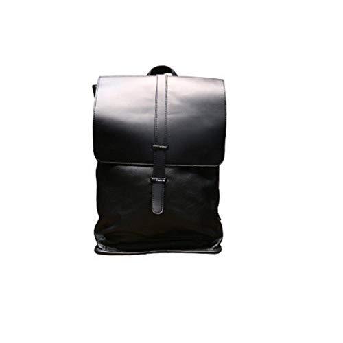 GY-HHHH Schülertasche, einfache und vielseitige Umhängetasche, 39 * 29 cm Leichter Freizeitreiserucksack, schwarz