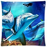 B Lyster shop 18 X 18 Lovely Dolphins Pillow Case Cushion Cover