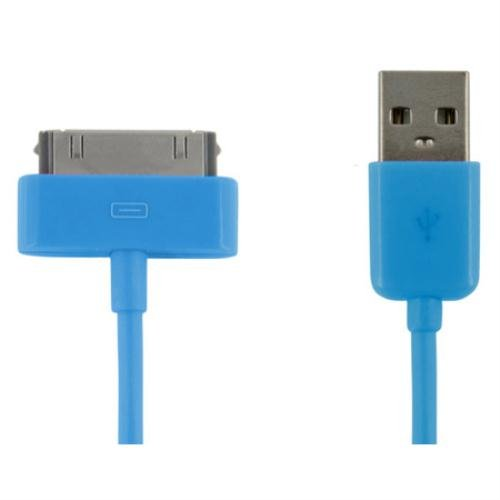 4WORLD Apple USB Daten und Lade Kabel (1m) für Apple iPhone 4/4S/3G/3GS, iPad 1/2/3, iPod Video/Mini/Nano/Touch blau