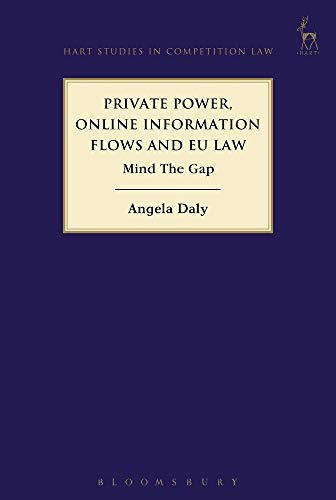 Private Power, Online Information Flows and EU Law: Mind The Gap (Hart Studies in Competition Law)