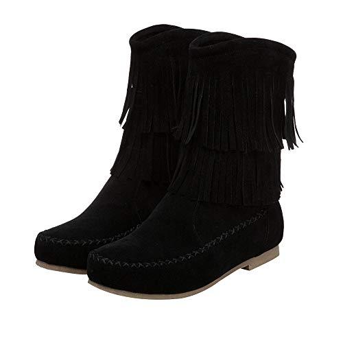 TianWlio Frauen Herbst Winter Stiefel Schuhe Stiefeletten Boots Stiefel Stiefel Palladium Stil Mode High-Top - Militärische Ankle Schuhe Freizeit Schuhe Schwarz 43