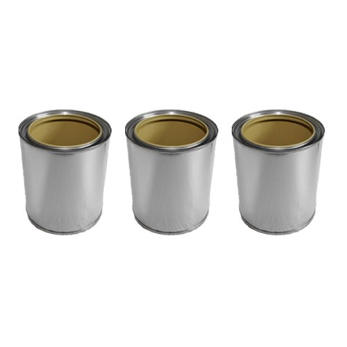 3x tinplate cans 0,5l accessories for bio ethanol or gel fireplace burner