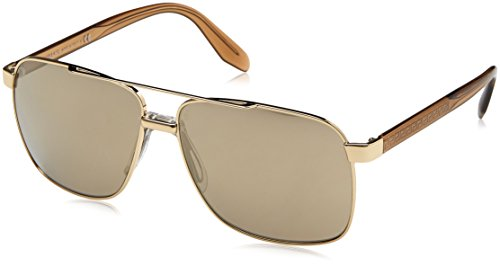 Versace Herren 0VE2174 12525A 59 Sonnenbrille, Pale Gold/Lightbrownmirrordarkgold