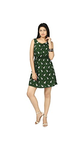 Yogalz Women Light Green Color Casual Western Party Wear Dress