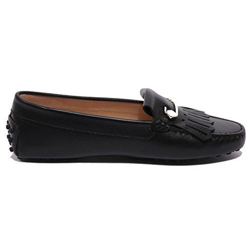 B1583 mocassino donna TOD'S HEAVEN FRANGIA SPILLA nera loafer shoe woman Nero