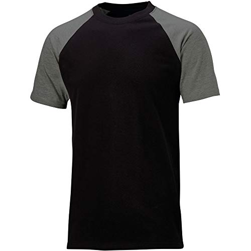 Dickies Two Tone T-Shirt SH2007, 100%Baumwolle, 180g/m², verschiedene Farben (3XL, Schwarz / Grau)