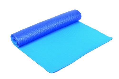 FA Sports YogiPlus - Colchoneta de yoga ( 6 mm, lavable, 160-180cm, 140-179 cm, 100-119 cm, de 6 a 6,9 mm ), color azul, talla 173 x 61 x 0,6 cm