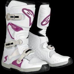 Alpinestars Women's Stella Tech-3 Boots (9) (WHITE/VIOLET) -