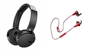 MIRZA Extra Extra Bass XB450 Headphones & Reflect Headset for LG L 35(Extra Extra Bass XB450 Headphones,With MIC,Extra Bass,Headset,Sports Headset,Wired Headset & Reflect Headset)