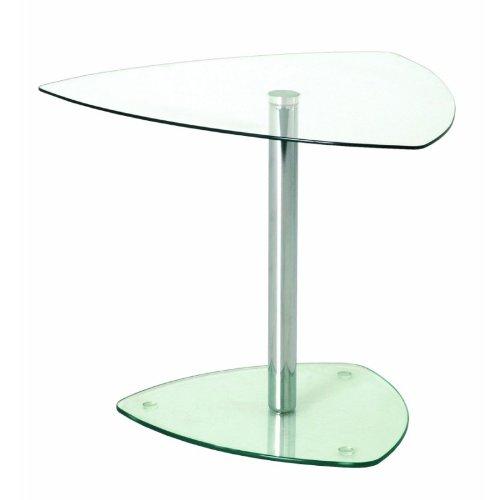 Haku Möbel 86215 Table Basse d'Appoint Tube d'Acier/Verre Trempé Chromé