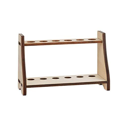 Tuuters Hochwertige Reagenzglashalter aus Holz | Verschiedene Designs ✓ Praktisch für Labor und Haushalt ✓ (Pappel hell 18,5mm)