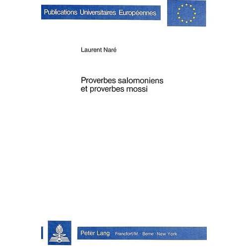 Proverbes salomoniens et proverbes mossi: Etude comparative à partir d'une nouvelle analyse de Pr 25-29