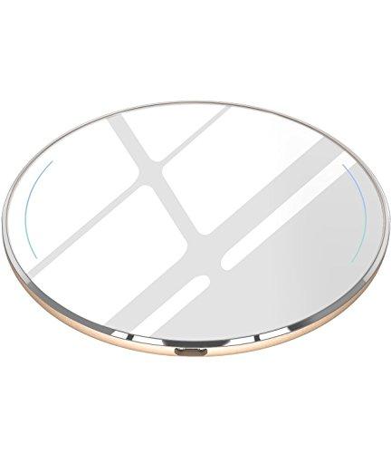 Fast Wireless Charger, TOZO Ladestation Schnellladestation [Extra Dünn] Ladegerät für iPhone X / 10 / 8 / 8 Plus, Samsung Galaxy S8, S8+, Note 8 (Weiß) - Wand Ladeadapter Qi ist Nicht Enthalten (Weiß Micro-usb-wand-ladegerät)