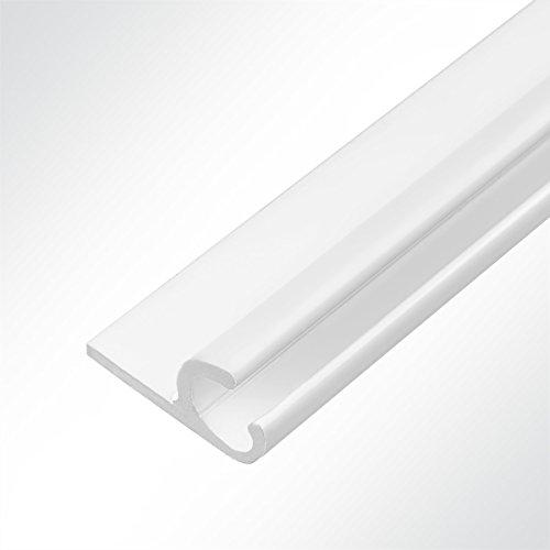 Preisvergleich Produktbild LYSEL® Aluminium Kederschiene Vorzeltkederschiene 15x30mm weiß 3 Meter