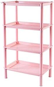 AIWANTO Simple Style Plastic Bathroom Shelves, 4-Tier Free Standing Rack, Bathroom Organizer, Multipurpose Uti