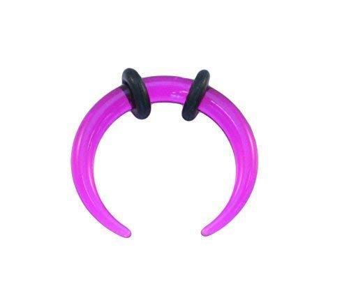 Vault 101 Limited Lila Acryl Ohr oder Septum Gedehnt Pincher Bänder Buffalo Bull Horn Gekrümmter Bänder - 2mm