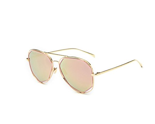 NHDZ Sunglasses Female Uv Protection Round Face Polarized Driving Sunglasses Female Tide Driver Driving Glasses Gold Frame Polarized Powder Mercury Film