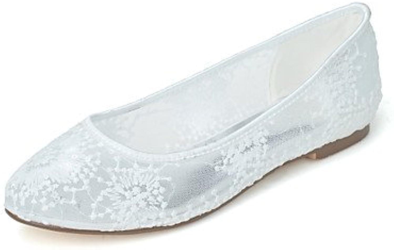 Las Mujeres'S Wedding Shoes Bailarina / Round Toe Flats Boda/ Parte &Amp; Noche Negro / Rosa / Blanco / Marfil...