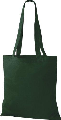 ShirtInStyle Premium Stoffbeutel Baumwolltasche Beutel Shopper Umhängetasche viele Farbe bottle green