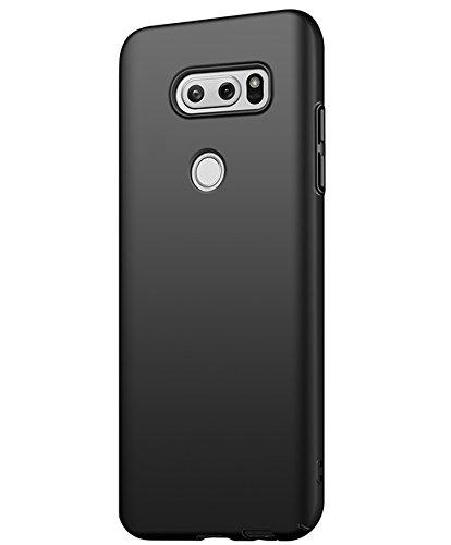 AOBOK LG V35 ThinQ Hülle, Ultra Dünne Slim Hardcase mit Kratzfest Schutzhülle Leichtgewicht Schutz Schale HandyHülle Matt Case Cover für LG V35 ThinQ - Schwar