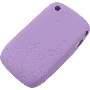 BlackBerry Embossed silicone case cover busta Lavendel