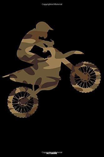 Notebook: Camouflage Motocross Journal Dirt Bike Composition Book Motorcycle Biker logbook Birthday gift (Kleinkind Alpine Ski)