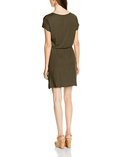 Only Onlthelma S/s Dress Ess, Robe Femme Vert - Grün (Grape Leaf)