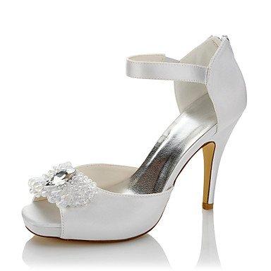 RTRY Donna Tacchi Raso Comfort Estate Autunno Party Di Nozze &Amp; Sera Comfort Crystal Stiletto Heel White Us5 / Eu35 / Uk3 / Cn34 US6 / EU36 / UK4 / CN36