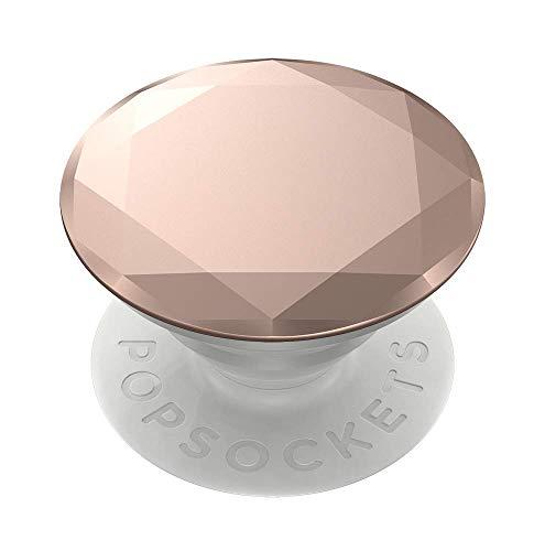 PopSockets - austauschbarer, Ausziehbarer Sockel und Griff für Smartphones und Tablets - Metallic Diamond Rose Gold - Metallic Sockel