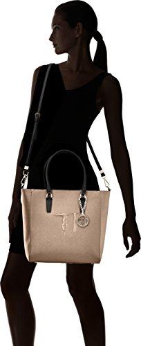Trussardi Jeans 75b00001-1y090125, Borsa a Spalla Donna, 41 x 32 x 16 cm (W x H x L) Multicolore (Bronze/Black)