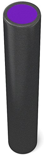 TNP-Accessories-Foam-Roller-90cm-x-15cm-Yoga-Pilates-Massage-Workout-Exercise-Rehab-Crossfit-Physio-Gym-Therapy-Sports-Injury-BlackPurple