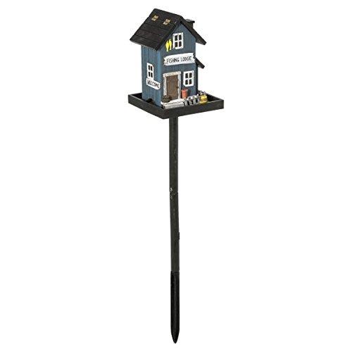 miaVILLA Futterhaus für Vögel - Vogelfutterhaus mit Ständer - Holz - Bunt
